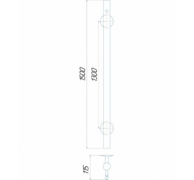 Рушникосушки Молнія круг 1500x30 Э