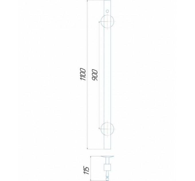 Рушникосушки Молнія квадрат 1100x30 Э