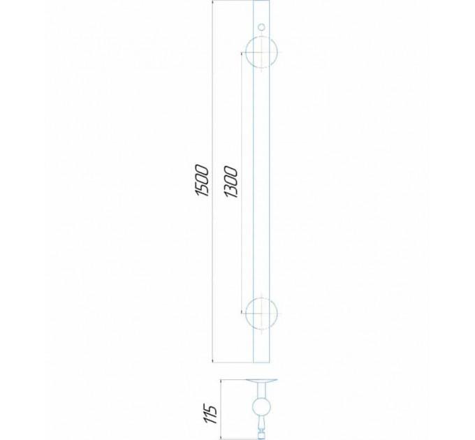 Рушникосушки Молнія квадрат 1500x30 Э