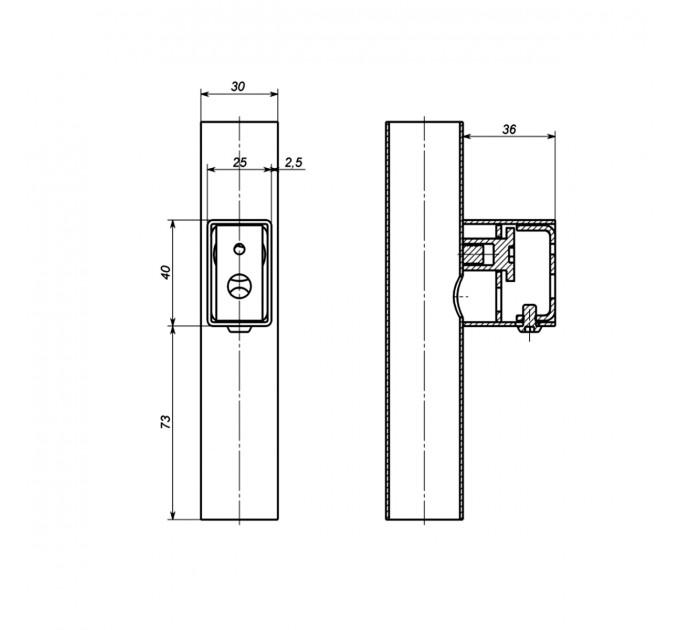 Комплект прихованого підключення Арт дизайн